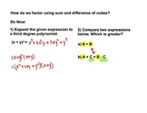 Factoring sum and difference of cubes