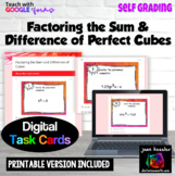 Factoring the Sum and Difference of Cubes Digital Assignment plus PRINTABLE