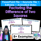Factoring the Difference of Two Squares PowerPoint/Keynote