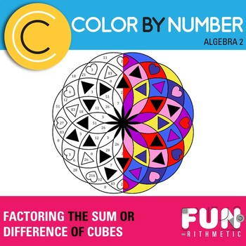 Factoring the Sum or Difference of Cubes Color by Number