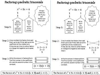 Factoring trinomials notes