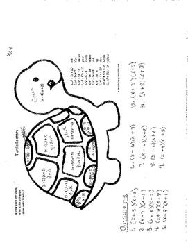 Factoring trinomials worksheet