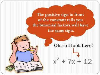 Factoring using the Trinomial Rule