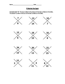 Quadratics factoring warm up- all positive