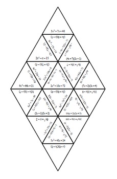 Factoring (when a does not = 1) Tarsia Puzzle