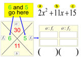 Factoring Trinomials Power Point Intro & 66 assignments on