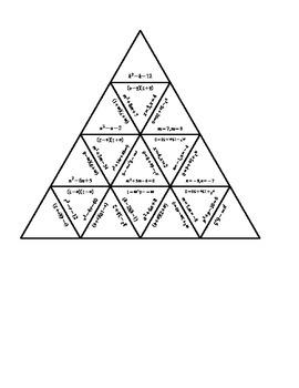 Factoring x2 + bx + c (=0) Tarsia Puzzle