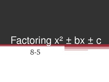 Factoring x^2 + bx + c