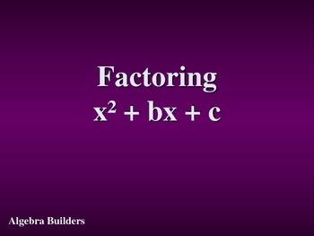 Factoring x^2+bx+c