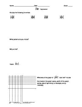 Factoring x^2+bx+c Exploration