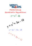 Factorising Quadratic Equations