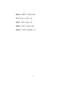 Factorising expressions containing powers