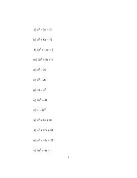 Factorising quadratics and simplifying algebraic fractions