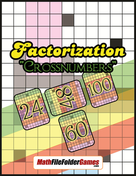"""Factorization """"Crossnumbers"""" (Divisibility Activity)"""