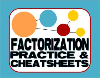 Factorization Practice & Cheat Sheets - Divisibility, Prim