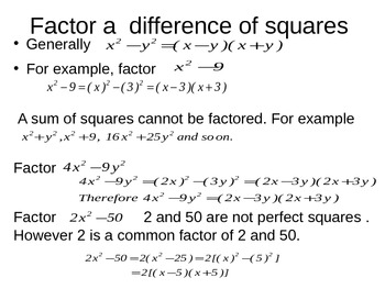 Factorization and real world applications