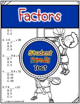 Factors (1-9) Test