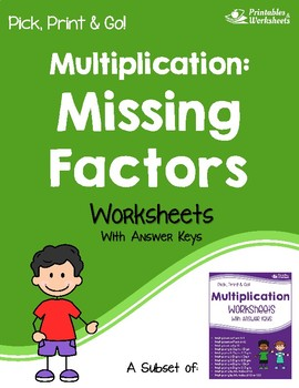 Missing Factors Worksheets with Answer Keys