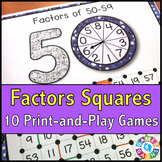 Factors Activities: 10 Factors Games