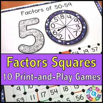 Factors Activities: 10 Factors Games