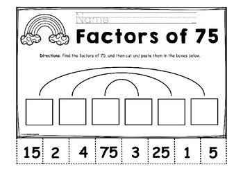 Factors and Multiples | Finding Factor Pairs