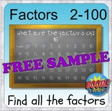 Factors: 2-100 (BOOM distance learning) Factors, Primes &