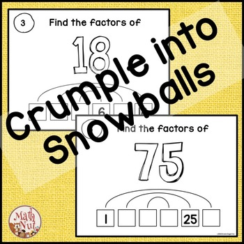 Factors and Multiples: Finding the Factors of Numbers less than 100