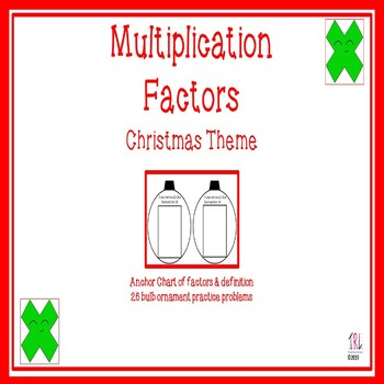 Factors Activity - Christmas Ornament Bulbs Theme
