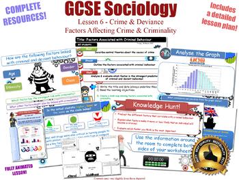 Factors Affecting Crime & Criminality- Crime & Deviance L6/20 (GCSE Sociology)