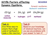 Factors Affecting Dynamic Equilibrium GCSE Chemistry lesson SC15b