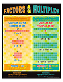 """Factors And Multiples Poster- 8½"""" x 11"""""""