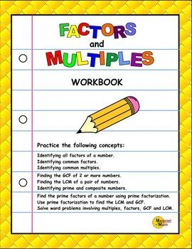 Factors And Multiples Workbook