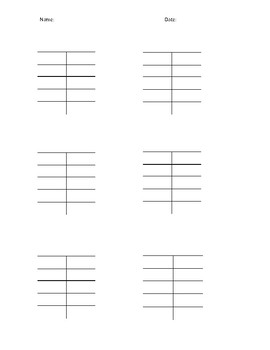 Factors BLANK Sheet