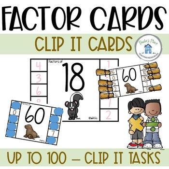 Factors Clip it Cards 1 to 100