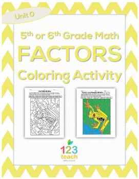 Factors Color by Number Activity Worksheet