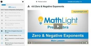 Factors & Exponents | Pre Algebra Unit with Videos | Good for Distance Learning