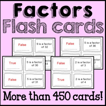 Math Factors: Flash Cards, Poster, and Worksheets Common C