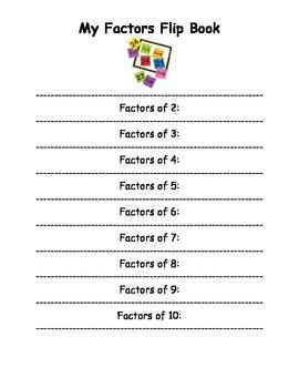 Factors Flip Book