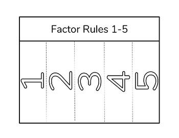 Factors Foldable