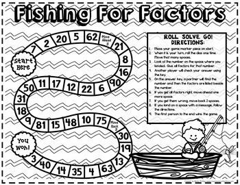 Factors GAME: 4th Grade 4.OA.B.4: Fun Factors Activity