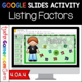 Factors Google Slides Activity