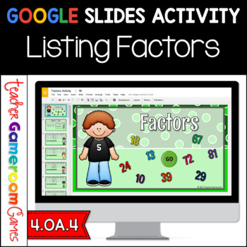 Factors Google Slides Activity