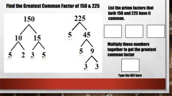 Factors & Greatest Common Factor – Digital Interactive Notebook