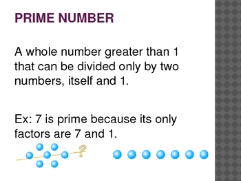 Factors, Multiple, and Primes