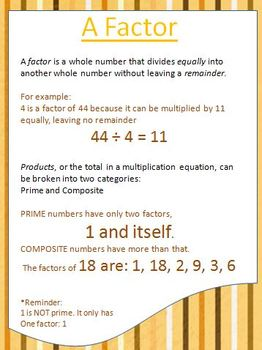 Factors Multiples Arrays Oh MY! Math Packet with Games, Exemplars, Organizers