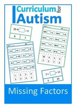 Factors Multiples Bundle Autism Special Education