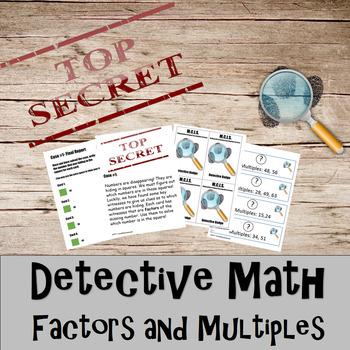 Factors & Multiples Detective Math Bundle