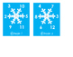 Factors & Multiples Differentiated Snowflake BUMP Games
