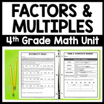 Factors, Multiples, & Divisibility Rules, 4-Day Number Sense Bundle, LCM & GFC