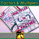 Factors & Multiples Doodle Notes